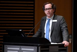 Alex Boekelheide of Pasadena City College speaks during a SoCal Policy Forum on the issues of housing affordability and homelessness at Westerbeck Hall on the campus of Pasadena City College on Thursday, October 17, 2019 in Pasadena, California. (Photo by Keith Birmingham, Pasadena Star-News/SCNG)